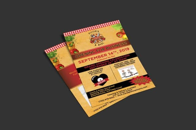Michael Pothos Design - Low Budget Pizzeria Flyers in Las Vegas