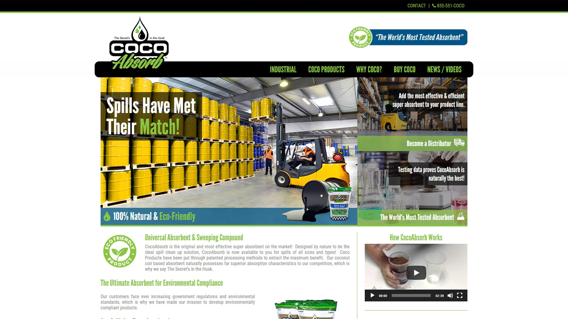 Michael Pothos Design - Absorbent Product Website