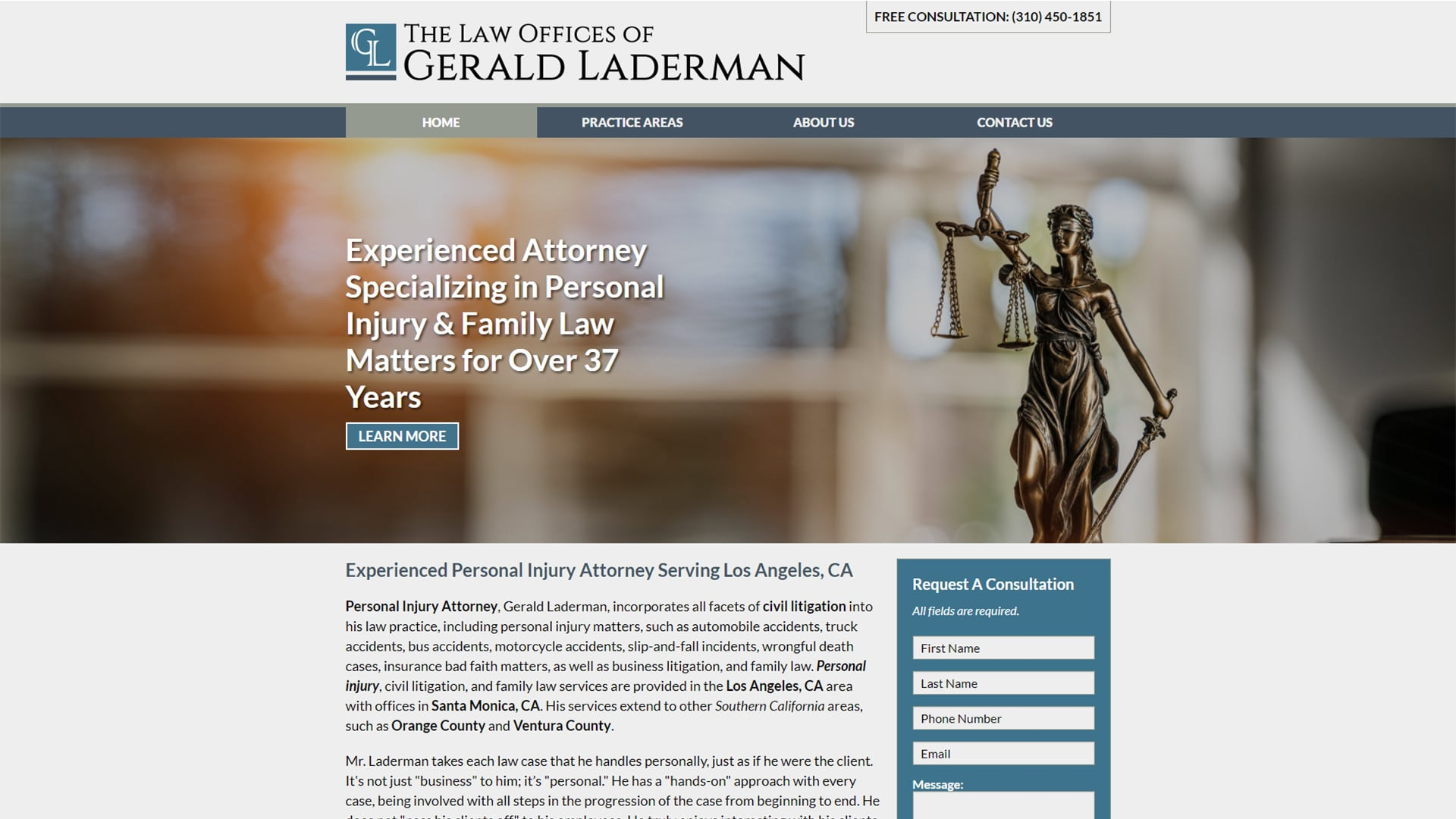 Michael Pothos Design - Attorney Website 2