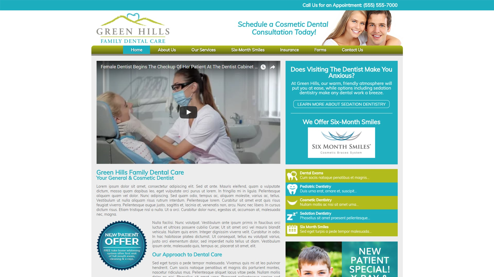 Michael Pothos Design - Dental Office Mockup Website