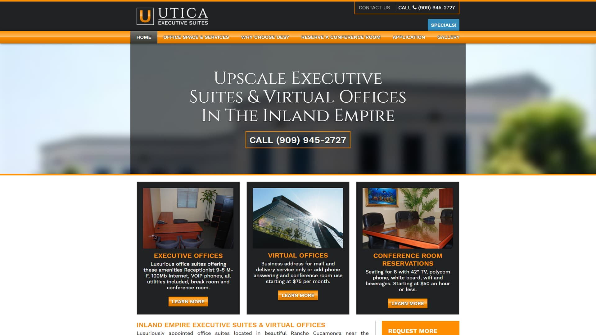 Michael Pothos Design - Executive Suites Website
