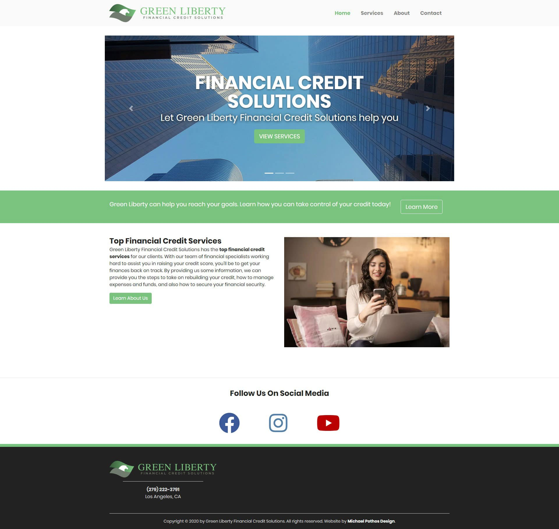 Michael Pothos Design - Financial Credit Solutions Website