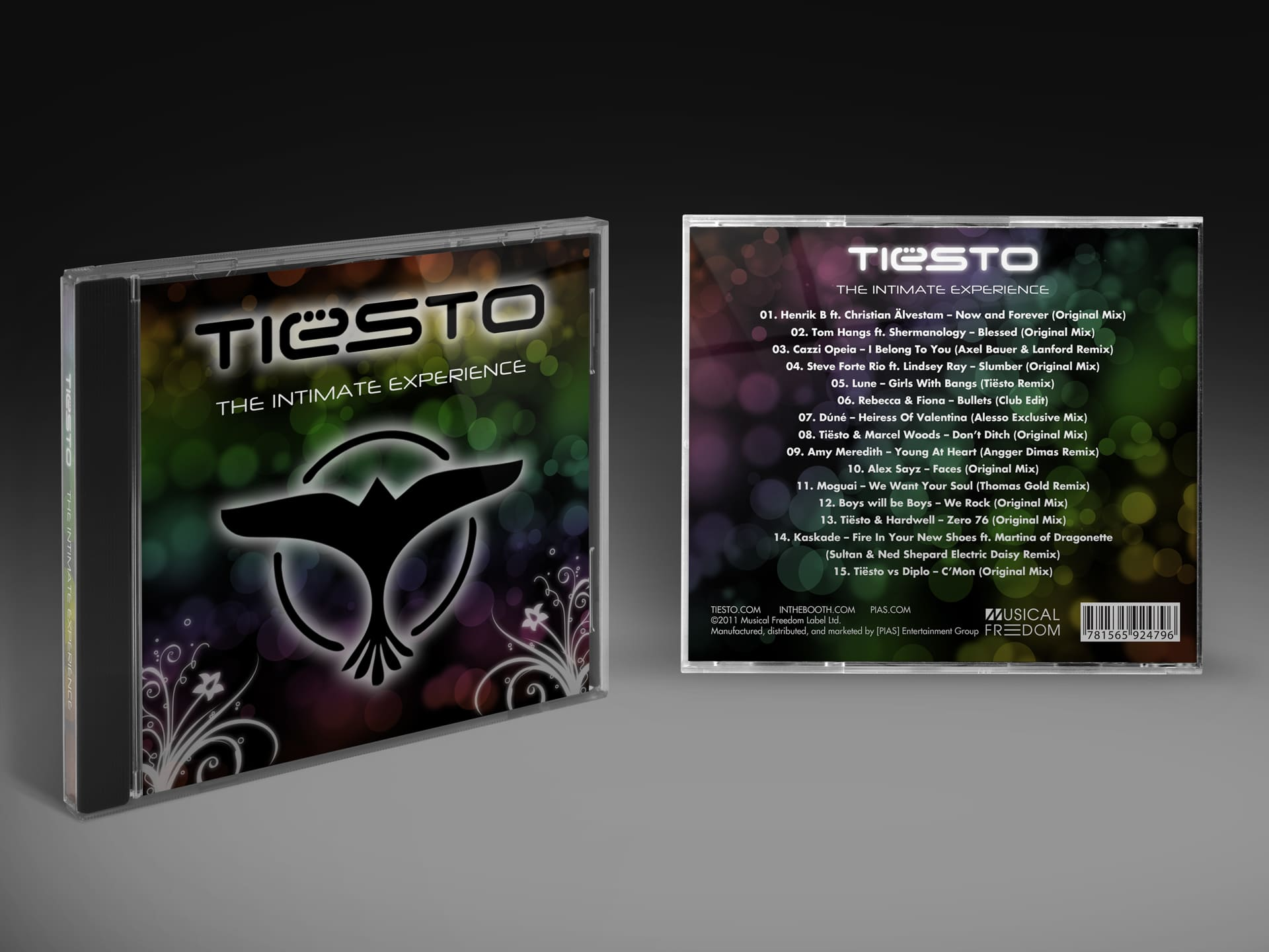 Michael Pothos Design - Music Event Mockup CD Cover